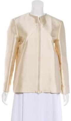 Oscar de la Renta Oscar by Silk-Blend Zip-Up Jacket