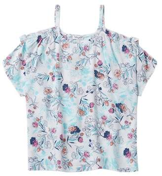 Splendid Cold Shoulder Floral Top (Big Girls)