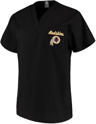 Redskins Unbranded Women's Concepts Sport Black Washington Scrub Top