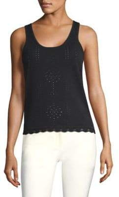 Derek Lam 10 Crosby Pointelle Knit Tank Top