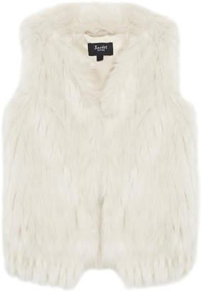 Bardot Faux-Fur Waistcoat Size 8-16