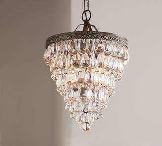 Pottery Barn Clarissa Crystal Drop Small Round Chandelier