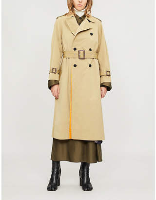 Toga Double-breasted woven trench coat