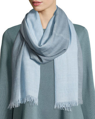 Eileen Fisher Silk-Cashmere Ombre Scarf, Periwinkle $118 thestylecure.com
