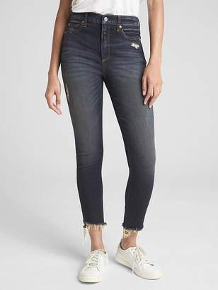 Gap High Rise True Skinny Ankle Jeans in Distressed