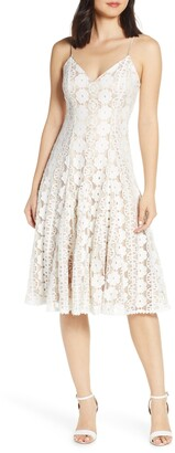 Eliza J Sleeveless Lace Dress