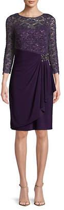 Alex Evenings Sequined Lace Dress