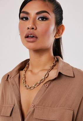 Missguided Gold Look Chunky Chain Necklace