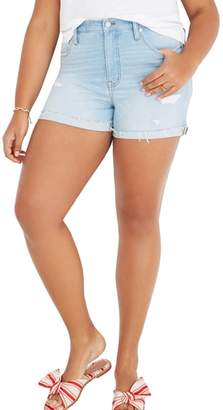Madewell High Waist Denim Cutoff Shorts