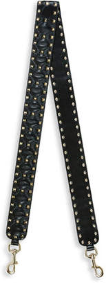 Valentino Rockstud Leather Guitar Strap for Handbag