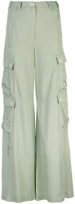 Jonathan Simkhai twill wide-leg cargo trousers