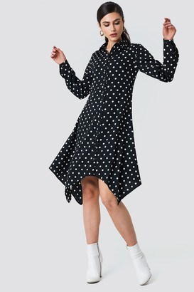 Na Kd Trend Asymmetric Midi Shirt Dress