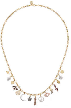 Sydney Evan 14-karat Yellow, White And Rose Gold Diamond Necklace