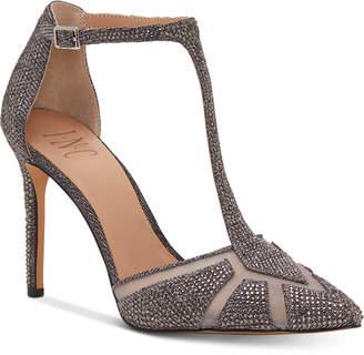 INC International Concepts I.n.c. Women Karsyn T-Strap Evening Sandals, Women Shoes