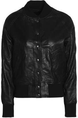 R 13 Leather Bomber Jacket