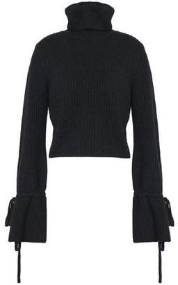 A.L.C. Ribbed Merino Wool-Blend Turtleneck Sweater