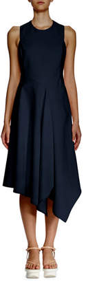 Stella McCartney Sleeveless Asymmetric-Hem Dress, Navy