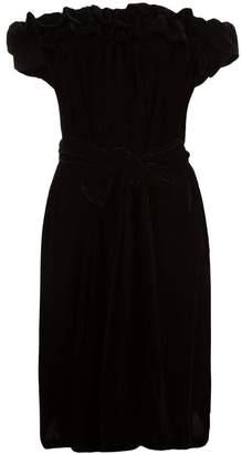 Stella McCartney off-the-shoulder velvet dress