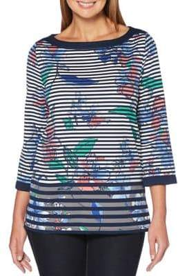 Rafaella Floral Striped Tunic