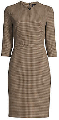 Piazza Sempione Women's Check Sheath Dress