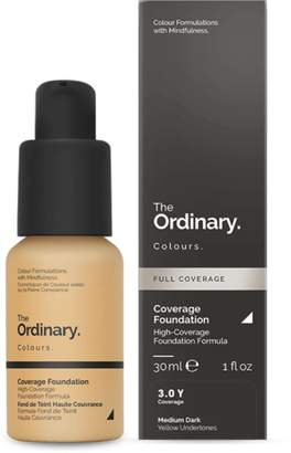 The Ordinary NEW Coverage Foundation (3.0 Y) 30ml Womens Makeup