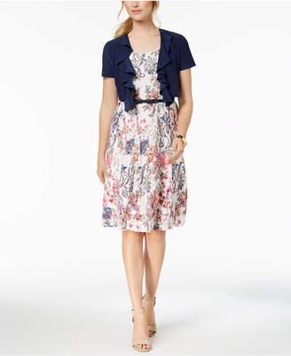 R & M Richards Petite Lace Dress and Jacket