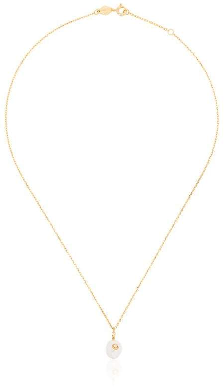 Anni Lu Gold plated opal and pearl necklace