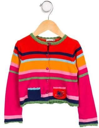 Catimini Girls' Striped Knit Cardigan