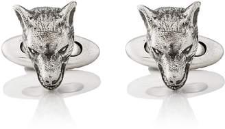 Gucci Men's Anger Forest Wolf-Head Cufflinks