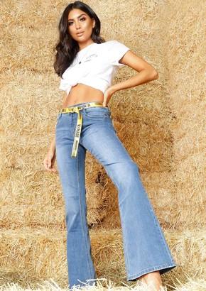 9b23c802c9 Missy Empire Missyempire Tianna Denim Wash Skinny Flare Jeans