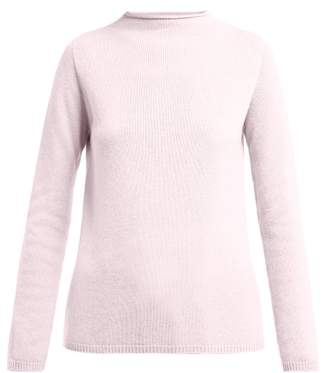 Max Mara S Cashmere Roll Neck Sweater - Womens - Pink