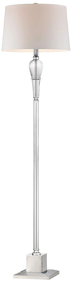 Chrome Orb Crystal Column Floor Lamp