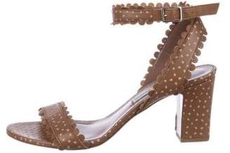 Tabitha Simmons Leather Scallop Sandals