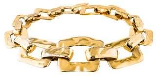 Saint Laurent Square Link Collar Necklace