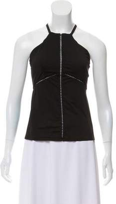 Michi Eyelet-Accented Athletic Top