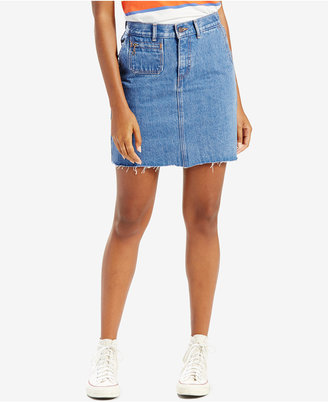 Levi's Orange Tab Denim Skirt, Levi's Select for Macy's $54.50 thestylecure.com