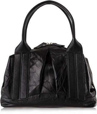 Joanna Maxham Cast Away II Medium Black Distressed Leather Satchel