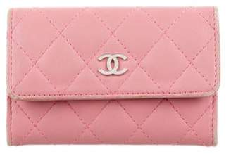 Chanel Quilted Business Card Holder Pink Quilted Business Card Holder