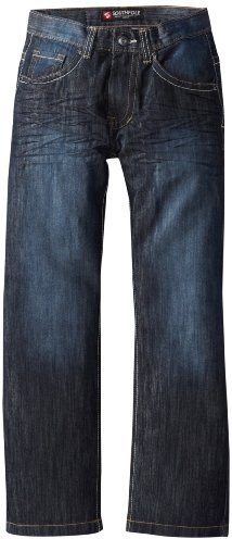 Southpole Kids Boys 8-20 Sand Blast Washed Denim In 6181 Regular Straight Fit