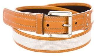 Gucci Leather-Trimmed Waist Belt