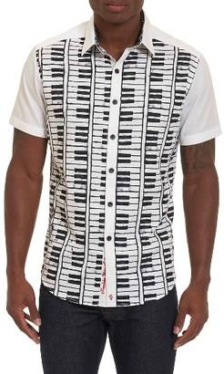 Men's Robert Graham Play The Keys Print Short Sleeve Sport Shirt $228 thestylecure.com