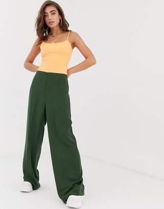 Asos Design DESIGN wide leg pants with clean high waist