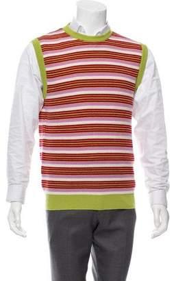 Salvatore Ferragamo Cashmere Striped Vest