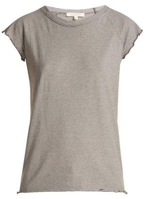 Nili Lotan Baseball Short Sleeved Cotton T Shirt - Womens - Dark Grey