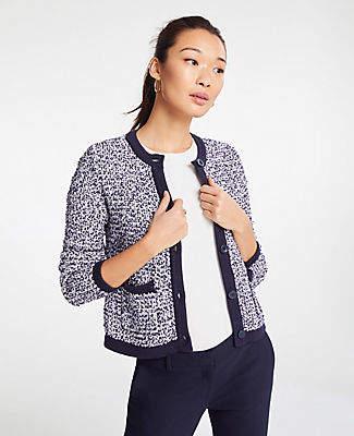 Ann Taylor Tweed Sweater Jacket