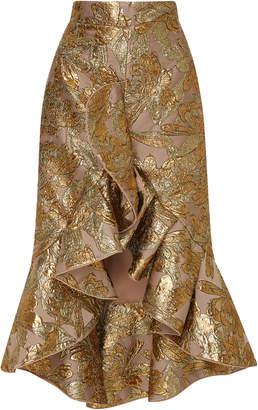 Johanna Ortiz Indian Tobacco Lame Jacquard Skirt