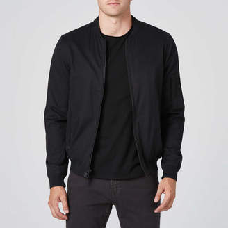 DSTLD Mens Cotton Bomber Jacket in Black