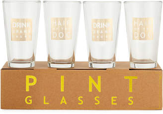Neiman Marcus Beer Pint Glasses, Set of 4