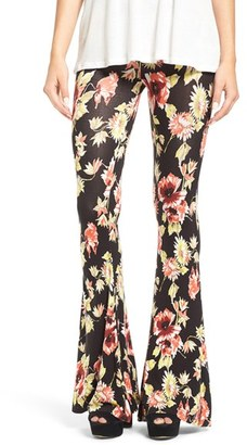 Volcom 'Fallin' for You' Floral Print Flare Pants $45 thestylecure.com