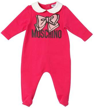 Moschino Bow Printed Cotton Romper